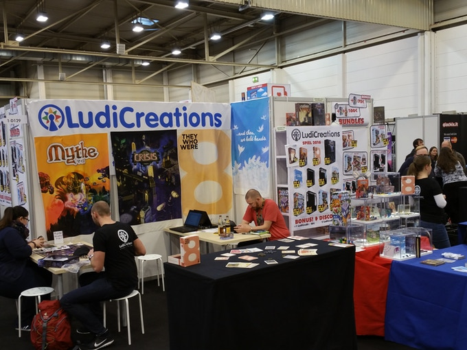 LudiCreations SPIEL 2016 booth after the robbery