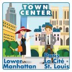 Town Center: Lower Manhattan / Paris La Cite-St.Louis logo